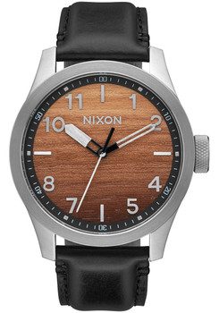 Nixon Safari Leather Wood Silver (A9752457)