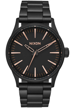 Nixon Sentry 38 SS All Black Rose Gold (A450957)