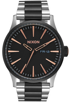 Nixon Sentry SS Black Rose Gold (A3562051)