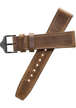 Xeric 20mm Horween Full Stitched Brown Gun Leather Strap (XRC-EGA-20-BRGN)