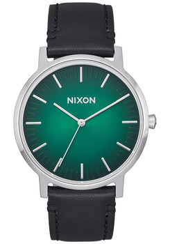 Nixon Porter Leather Green Ombre Black (A10582696)