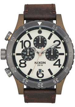 Nixon 48-20 Chrono Leather Bronze Gunmetal (A3632091)