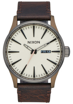 Nixon Sentry Leather Bronze Gunmetal (A1052091)