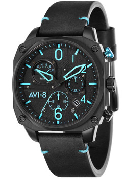 AVI-8 Hawker Hunter AV-4052-05 Chronograph Black Blue (AV-4052-05)