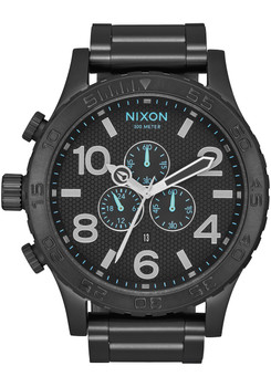 Nixon 51-30 Chrono All Black Blue (A083602)