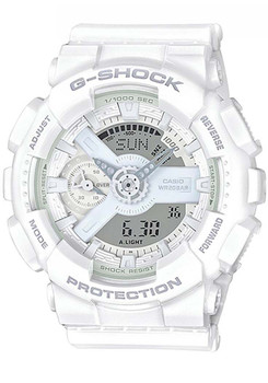 G-Shock S-Series Military White (GMAS-110CM-7A) front