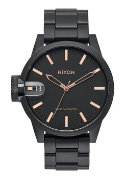 Nixon Chronicle 44 Black Rose Gold (A441957)