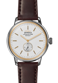 Shinola Bedrock 42mm Oxblood Cordovan (S0120058978)