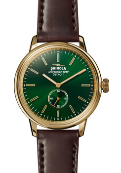 Shinola Bedrock 42mm Forest Green Oxblood Cordovan (S0120058982)