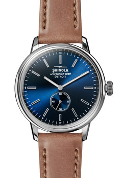 Shinola Bedrock 42mm Blue Cordovan (S0120058979)