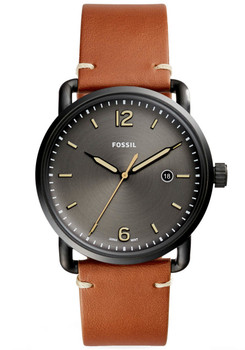 Fossil FS5276 Commuter Leather Black Brown (FS5276)