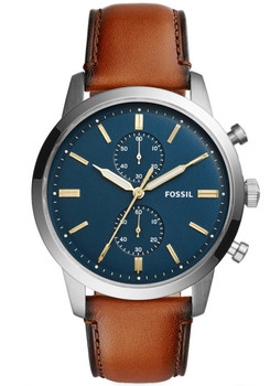 Fossil FS5279 Townsman Leather Blue Brown (FS5279)