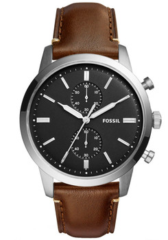 Fossil FS5280 Townsman Leather Black Brown (FS5280)