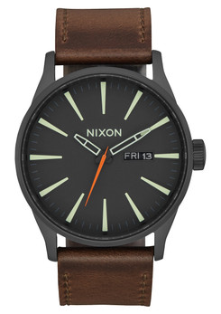 Nixon Sentry Leather Black Taupe Lum (A1052736)