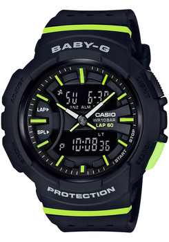 G-Shock Baby-G Runner Black Lime Green (BGA240-1A2)