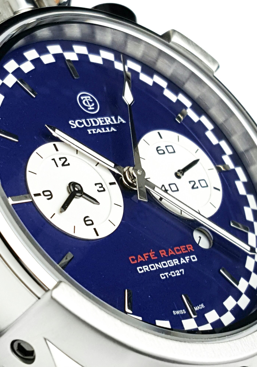 ct scuderia corsa cafe racer blue natural | watches