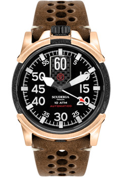 CT Scuderia Black Fusion Automatic Rose Gold Brown (CS10224)