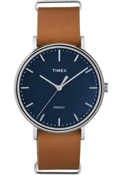Timex Fairfield Three Hand Blue Brown (TW2P97800VQ)