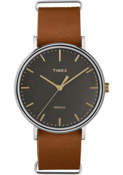 Timex Fairfield Three Hand Black Brown (TW2P97900VQ)