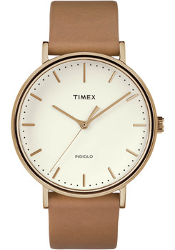 Timex Fairfield Three Hand Rose Gold Brown (TW2R26200VQ)