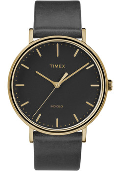 Timex Fairfield Three Hand Gold Black (TW2R26000VQ)