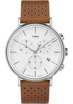 Timex Fairfield Chrono Leather White Brown (TW2R26700VQ)