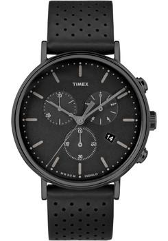 Timex Fairfield Chrono Leather All Black (TW2R26800VQ)