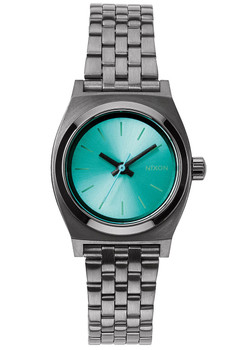 Nixon Small Time Teller Gunmetal Light Blue (A3991697)