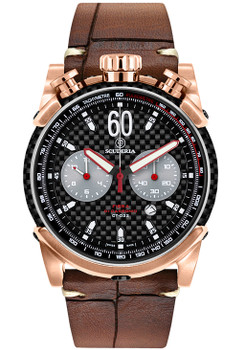 CT Scuderia Fibra Di Carbonio Rose Gold Alligator (CS10159)
