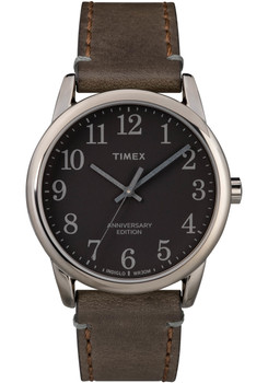 Timex 40th Anniversary Easy Reader Gunmetal Black Brown (TW2R35800VQ)
