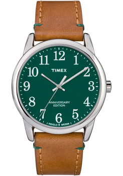 Timex 40th Anniversary Easy Reader Green Tan (TW2R35900VQ)