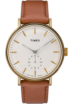 Timex Fairfield Sub Second Cream Gold Brown (TW2R37900VQ)