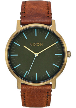 Nixon Porter Leather Brass Surplus Tan (A10582756)