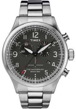 Timex Waterbury Traditional Chrono Black Silver SS (TW2R38400VQ)