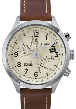Timex Intelligent Quartz Flyback Chrono Natural Brown (T2N932ZA)