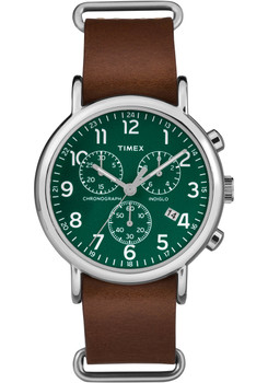 Timex Weekender Chrono Green Brown (TW2P7400)