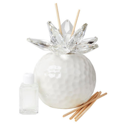 Italian Decorative Reed Aroma Diffuser White Hammered