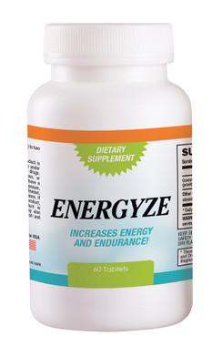 """Energyze aids in fighting fatigue and boost energy. Engerzye is all natural and only ingredient, Guarana, is a plant that is found in Brazil. The plant, or more specifically the plant's berries, is widely regarded as an exceptional source of natural caffeine.     While used mostly for a """"refresher"""" it's also an effective source to help you meet your weight-loss goals. Caffeine, being a nervous system stimulant, can increase the body's metabolism and also act as an appetite suppressant.     Guarana, known for its fruit, which is about the size of a coffee berry. Each fruit contains about one seed, which contains approximately three times more caffeine than coffee beans. Caffeine is a stimulant of the central nervous system, cardiac muscle, as well as the respiratory system. It is a central nervous system stimulant and is considered the least likely of all caffeine plants to cause anxiety.  Serving Size: 1 Tablet  1000 mg  Suggested Use: Take 1 to 2 tablets daily. Do not exceed 2 tablets daily.  These statements have not been evaluated by the Food and Drug Administration. This product is not intended to diagnose, treat, cure, or prevent any disease."""