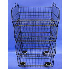 4-Tier Wire Baskets with Casters