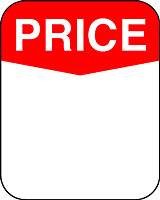 """PRICE"" Sticker in Red and White"