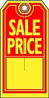 """""""SALE PRICE"""" Tag in Red and Yellow"""
