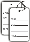 Small Style-Size-Price Tag