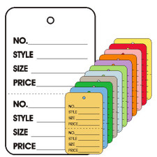 Colored Small Merchandising Tag