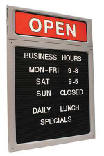 Upscale Business Hours Sign