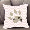Custom Paw Print Pillow