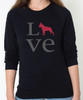 Unisex Love Boston Terrier Sweatshirt