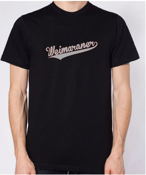 Righteous Hound - Unisex Varsity Weimaraner T-Shirt