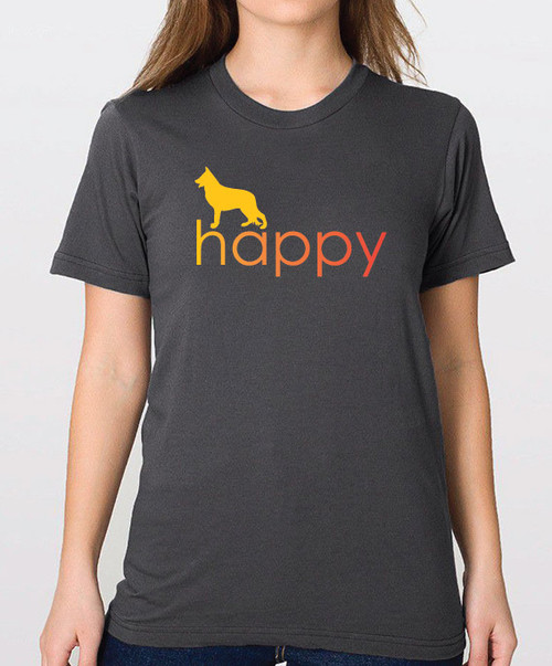 Righteous Hound - Unisex Happy German Shepherd T-Shirt