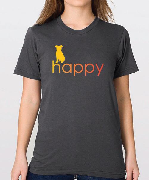 Righteous Hound - Unisex Happy Pitbull T-Shirt