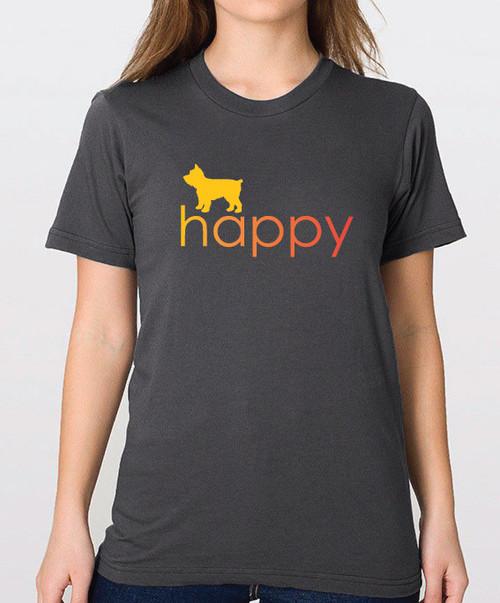Righteous Hound - Unisex Happy Yorkie T-Shirt